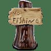 """Imagitarium """"No Fishing"""" Sign Aquatic Decor - Thumbnail-1"""