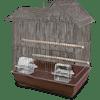 You & Me Parakeet Ranch House Cage, Brown - Thumbnail-1