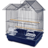 You & Me Parakeet Ranch House Cage, Navy - Thumbnail-1