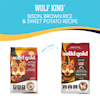 Solid Gold Wolf King Bison, Brown Rice & Sweet Potatoes Adult Dog Food, 24 lbs. - Thumbnail-2