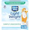 Fresh Step Simply Unscented Lightweight Clumping Cat Litter, 15.4 lbs. - Thumbnail-1