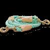 Bond & Co. Turquoise & Buff Rope Dog Leash, 6 Ft - Thumbnail-1