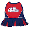 Pets First Mississippi Rebels Cheerleading Outfit, X-Small - Thumbnail-1