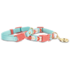Bond & Co. 2 Pack Turquoise & Coral Collars for Small Dogs, XS/S - Thumbnail-1