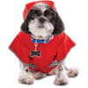 Good2Go Reversible Dog Raincoat in Red, Extra Small - Thumbnail-2