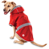 Good2Go Reversible Dog Raincoat in Red, Large - Thumbnail-1