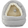 """Harmony Hooded Cave Cat Bed in Grey, 17"""" L x 15"""" W - Thumbnail-1"""