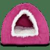 "Harmony Hooded Igloo Cat Bed in Raspberry, 16"" L x 16"" W - Thumbnail-1"