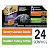 Sheba Perfect Portions Variety Pack Savory Chicken and Roasted Turkey Entrees Wet Cat Food, 2.64 oz., Count of 12 - Thumbnail-7