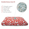 "Majestic Pet Red Plantation Shredded Memory Foam Rectangle Dog Bed, 44"" L x 36"" W - Thumbnail-2"