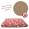 "Majestic Pet Red Plantation Shredded Memory Foam Rectangle Dog Bed, 44"" L x 36"" W - Thumbnail-3"