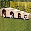 PortablePET Khaki HoundHouse Kennel and Shelter, Large - Thumbnail-6