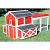 Merry Products Red Barn Chicken Coops with Roof Top Planter - Thumbnail-2