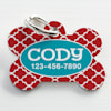 Custom Personalization Solutions Personalized Pet Tag Red - Thumbnail-1