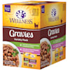 Wellness Complete Health Indulgence Grain Free Gravies Variety Pack Wet Cat Food, 3 oz., Count of 8 - Thumbnail-1