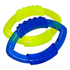 Nerf Translucent TPR Football Ring Blue and Green Dog Toy, Small, Pack of 2 - Thumbnail-3