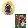 CueCuePet Black Labrador Dog Collection Twinkling Lights Christmas Ball Ornament, Medium - Thumbnail-4