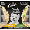 Cesar Simply Crafted Canine Cuisine Complement Chicken, Carrot & Green Bean Variety Pack Adult Wet Dog Food, 1.3 oz., Count of 8 - Thumbnail-1