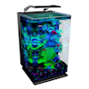 "GloFish Hinged Cycle Light and Hidden Filtration Aquarium Kit 5 Gallons, 11"" L x 11"" W x 16.25"" H - Thumbnail-5"