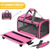 "Kopeks Pink Pet Carrier with Detachable Wheels, 20"" L X 13"" W X 11.5"" H - Thumbnail-4"