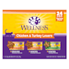Wellness Complete Health Chicken & Turkey Lovers Variety Pack Wet Adult Cat Food, 3 oz., Count of 24 - Thumbnail-1