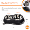 K&H Thermo-Kitty Cafe Stainless Black Cat Bowls - Thumbnail-3
