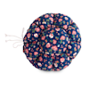 "EveryYay Snooze Fest Navy Floral Printed Round Cat Bed, 16-20"" L - Thumbnail-3"