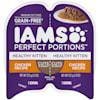 Iams Perfect Portions Grain Free Chicken Recipe Cuts in Gravy Healthy Kitten Wet Food, 2.64 oz. - Thumbnail-1