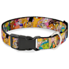 Buckle-Down Nick 90'S Rewind Character Mash Up Collage2 Pinks Plastic Clip Collar & Leash Set For Dogs, Small - Thumbnail-2