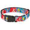 Buckle-Down Ariel & Flounder Vivid Underwater Poses Plastic Clip Collar & Leash Set For Dogs, Small - Thumbnail-2