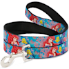 Buckle-Down Ariel & Flounder Vivid Underwater Poses Plastic Clip Collar & Leash Set For Dogs, Small - Thumbnail-3