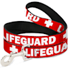 Buckle-Down Lifeguard/Logo Plastic Clip Collar & Leash Set For Dogs, Small - Thumbnail-3