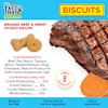 Pet by Tasty Natural Grain Free Braised Beef & Sweet Potato Biscuit Recipe Dog Treats, 8 oz. - Thumbnail-4