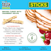 Pet by Tasty Natural Grain Free Smoked Turkey with Cranberry Stick Recipe Dog Treats, 4 oz. - Thumbnail-4