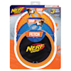 Nerf Two Translucent TPR Tire Flyer and Ultraplush Toss Tug Ring Dog Toy, Small, Pack of 3 - Thumbnail-1