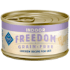 Blue Buffalo Blue Freedom Grain Free Indoor Chicken Recipe Adult Canned Cat Food, 3 oz. - Thumbnail-1