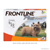 FRONTLINE Plus Flea and Tick Treatment for Small Dogs Upto 5 to 22 lbs., 3 Treatments - Thumbnail-1