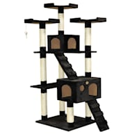 Deals on Go Pet Club Black 72-inch Cat Tree Condo with Two Ladders