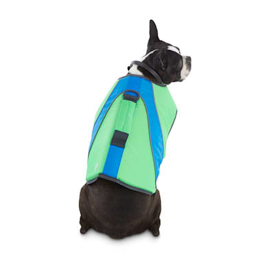 Good2go Neon Green Blue Dog Flotation Vest Xx Small Petco