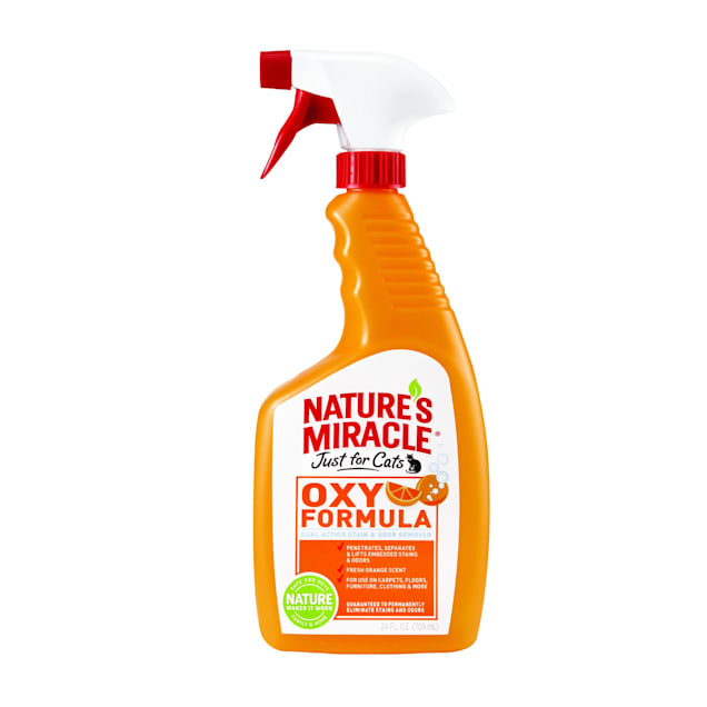 Nature's Miracle Orange-Oxy Power Just for Cats Stain & Odor Remover, 24 oz. - Carousel image #1