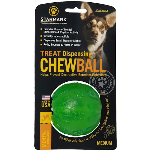Starmark Treat Dispensing Chew Ball, Medium - Carousel image #1