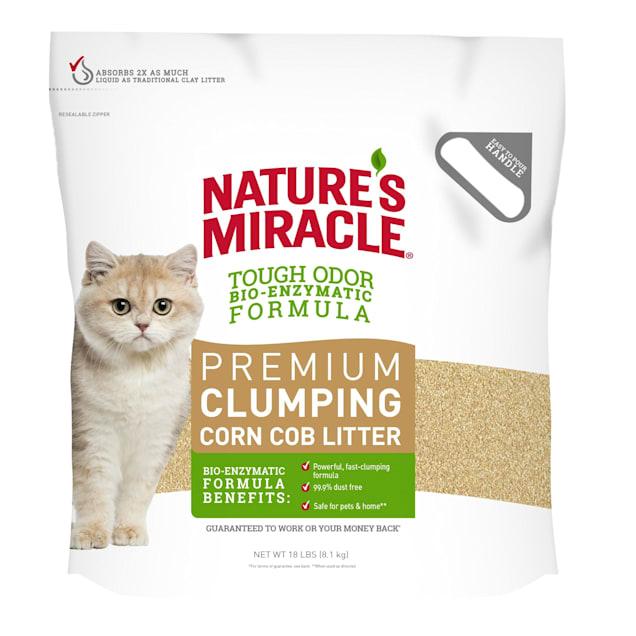 Nature's Miracle Premium Clumping Corn Cob Litter, 18 lbs. - Carousel image #1