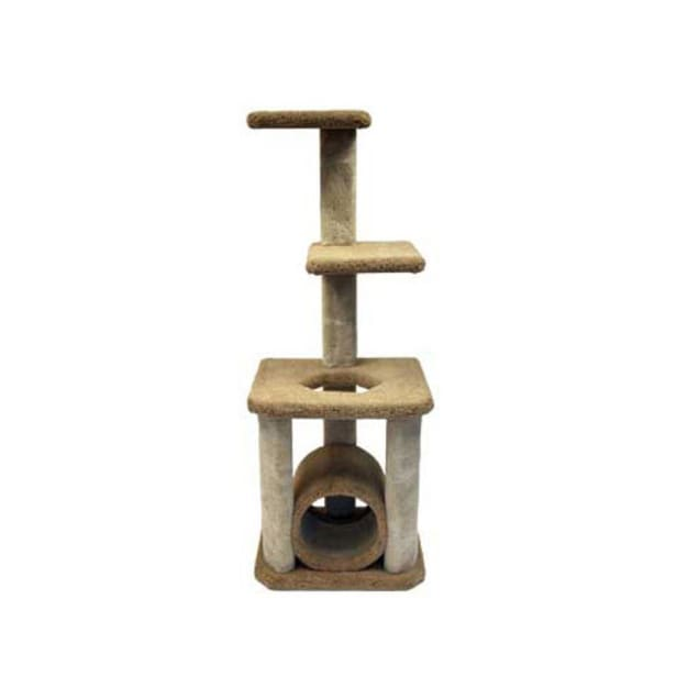 """North American Pet Classy Kitty Pet Deluxe Cat Tree With Tunnel, 65"""" H - Carousel image #1"""