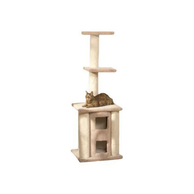 """North American Pet Classy Kitty Deluxe Cat Tree With Two Story Condo, 65"""" H - Carousel image #1"""