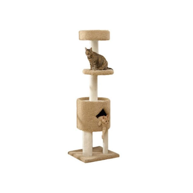 """North American Pet Classy Kitty Penthouse Cat Tree, 65"""" H - Carousel image #1"""