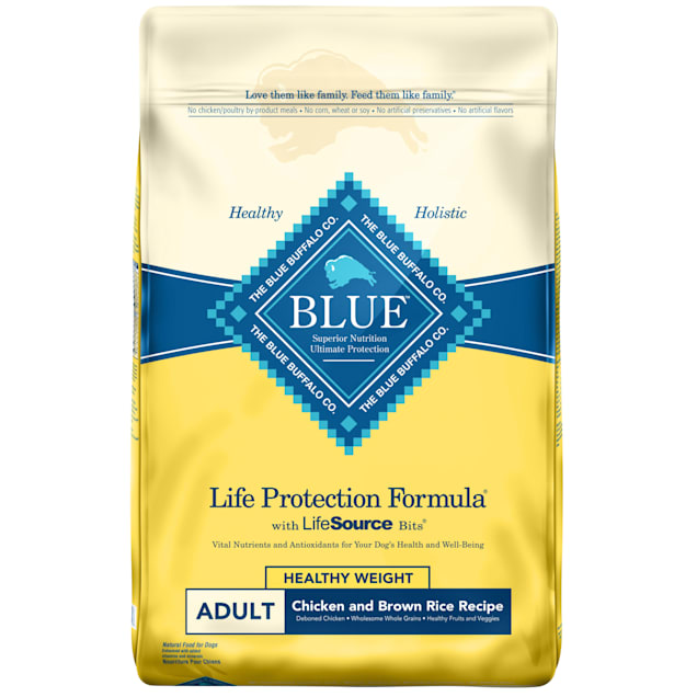 Blue Buffalo Life Protection Formula Natural Adult Healthy Weight Chicken and Brown Rice Dry Dog Food, 30 lbs. - Carousel image #1