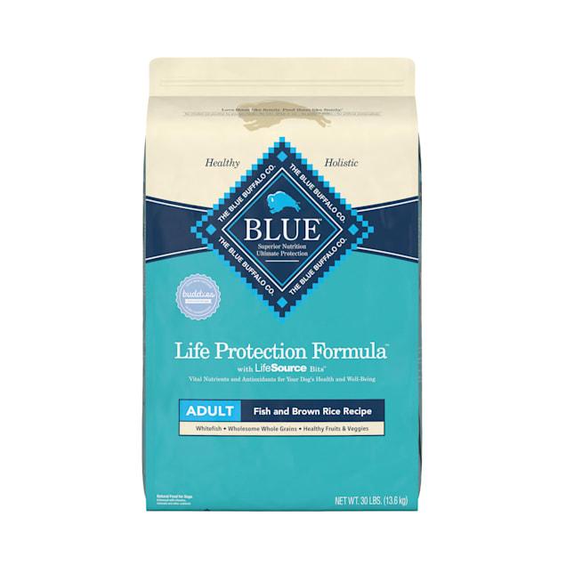 Blue Buffalo Life Protection Formula Natural Adult Fish and Brown Rice Dry Dog Food, 30 lbs. - Carousel image #1