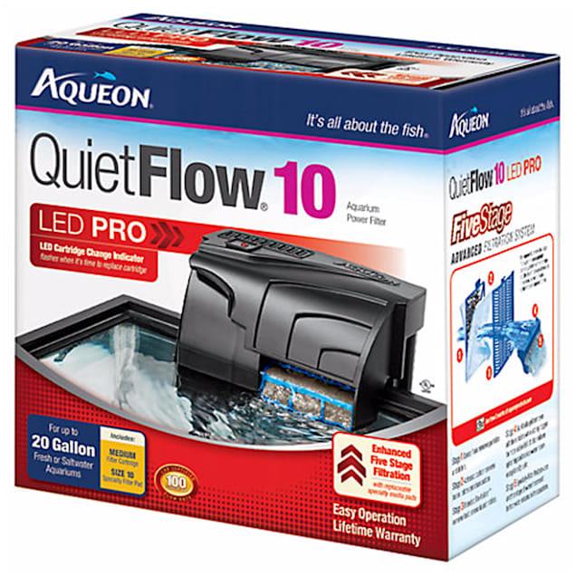 Aqueon QuietFlow LED PRO 10 Aquarium Power Filter - Carousel image #1