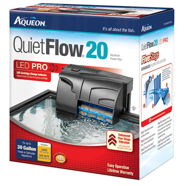 Aqueon QuietFlow LED PRO 20 Aquarium Power Filter - Carousel image #1