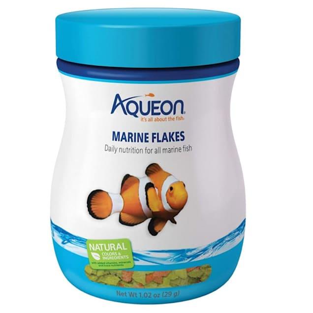Aqueon Marine Flakes Fish Food, 1.02 oz. - Carousel image #1